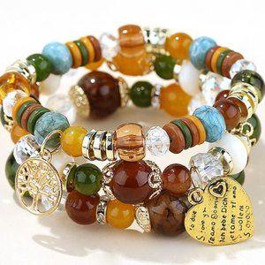 Jewelry - Trendy Bracelet Versatile w/Metal Heart Pendant